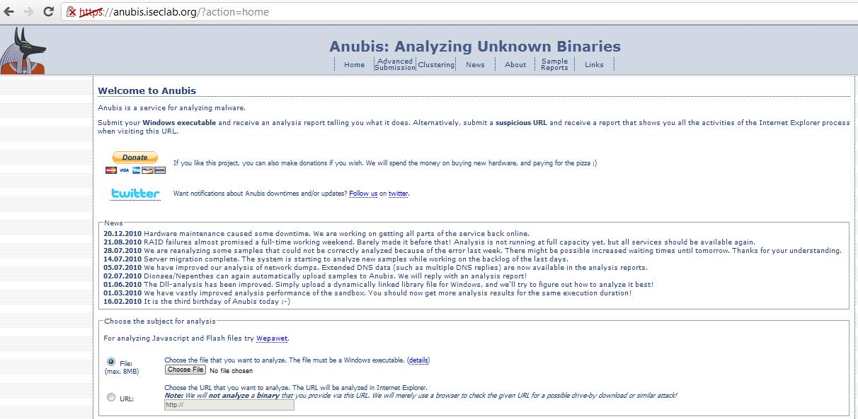 """Anubis sandbox or """"Analyse this!"""""""