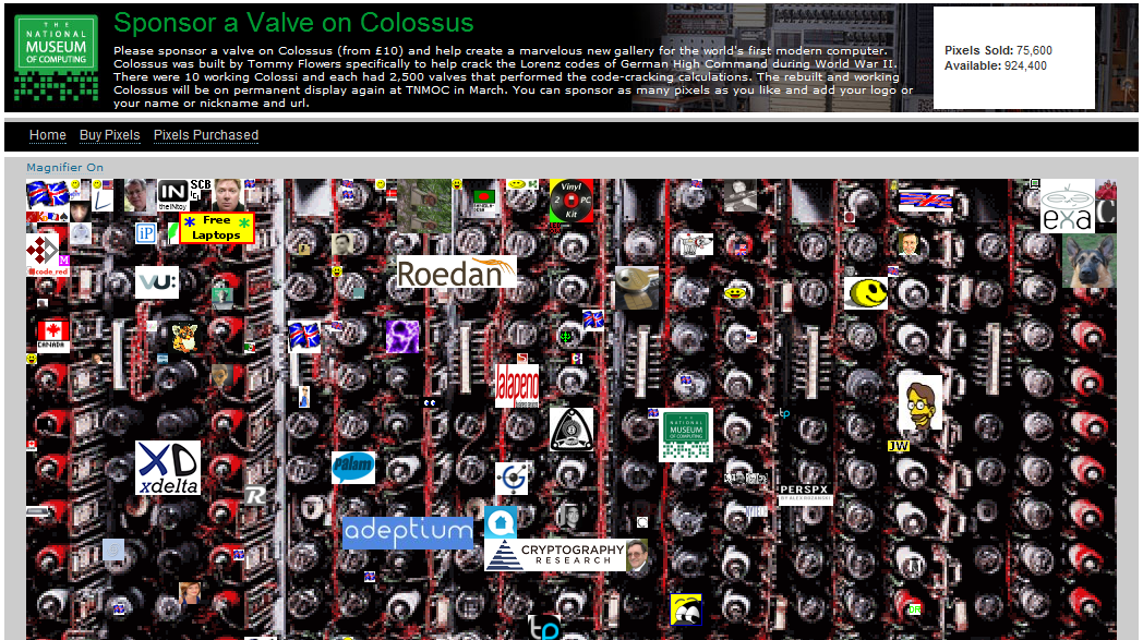 Colossus gallery fundraising initiative